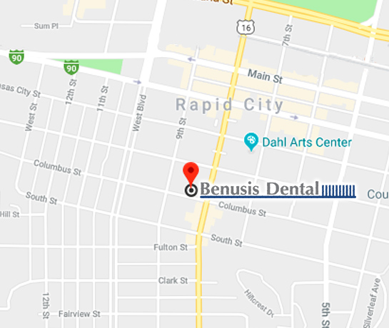Google Map to Benusis Dental